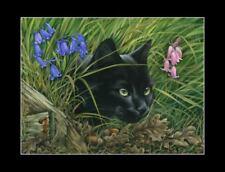 Black Cat Print The Hunter by I Garmashova
