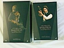 HOT TOYS STAR WARS A NEW HOPE HAN SOLO + CHEWBACCA  - US SELLER---