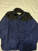 EUC Columbia Sportswear Men's Winter Jacket Coat XL Blue Black Zip Hoodie