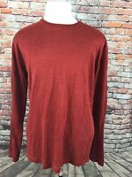 BANANA REPUBLIC MENS DARK SALMON LINEN CREWNECK SWEATER SIZE LARGE