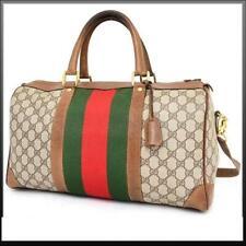 Gucci Monogram Sherry Web Boston Joy Duffle with Strap 235381