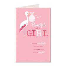 Una bella ragazza BABY CICOGNA Design NASCITA K2 Classics greeting card BB17