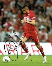 Burak YILMAZ Signed Autograph 10x8 Photo AFTAL COA Galatasaray Turkey