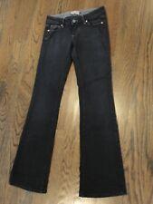 Paige Premium Denim Black Laurel Canyon Flare Leg Jeans sz 25