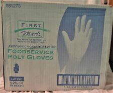First Mark Food Service Poly Gloves Lg. 250/box Qty 4 981278
