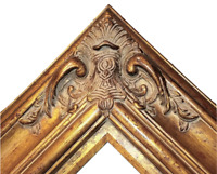 "5.5"" WIDE Gold Black Ornate Antique Oil Painting Wood Picture Frame 620AG 30x40"