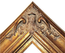 """5.5"""" WIDE Gold Black Ornate Antique Oil Painting Wood Picture Frame 620AG 30x40"""