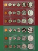 1972 P D S Proof /& Mint Sets In Snap Tight Display Cases Combined Shipping
