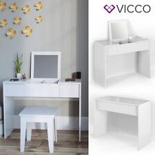VICCO Schminktisch MIA Weiß hochglanz Frisiertisch Kommode Spiegel Beautytisch