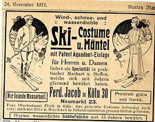 FERD. Jacob colonia Neumark 23, ski-Costume & Cappotti storica la pubblicità di 1911