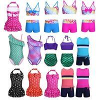 Toddler Kid Baby Girls Swimwear Swimsuit Costume Bikini Set Beach Bathing Suits