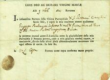 GG758-RICHIESTA DI POVERTA', CHIESA PARROCCHIALE DI S. GIOVANNI IN RAVENNA,1811