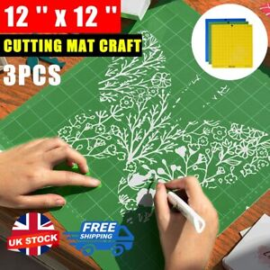 """Fit For Cricut Tools Accessories Variety 3 Pack Adhesive Cutting Mat 12""""x12"""" UK"""