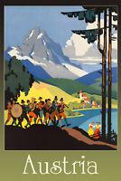 Autriche Panneau Métallique Plaque Voûté Signe en Étain Métal 20 X 30 cm CC0389