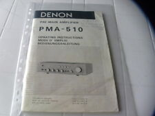 Denon PMA-510  Owner's Manual  Operating Instructions Istruzioni