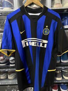Nike Inter Milan Christian Vieri Home Jersey / Shirt 2002-2003 sz M