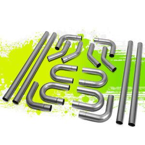 """16pcs 2.5"""" Custom Intake Exhaust Tubing Mandrel Bend Pipe Universal Piping Kit"""
