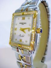 Raymond Weil Parsifal Mother of Pearl Diamond Gold Ladies 9730 Watch