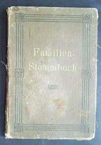 Familienstammbuch 1891 begonnen