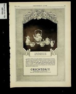 1925 Crichton Reproduction Queen Anne Gold Silverware Vintage Print ad 14768