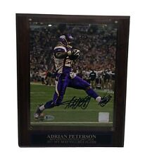 Adrian Peterson autographed auto signed 8x10 photo deluxe plaque Vikings Beckett