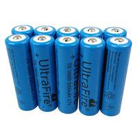 10X 18650 5000mAh Li-ion 3.7V Rechargeable Batteries Flashlight LED Torch Light