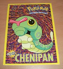 CP CARTE POSTALE POKEMON #10 CHENIPAN CATERPIE CARD NEUVE - NEW