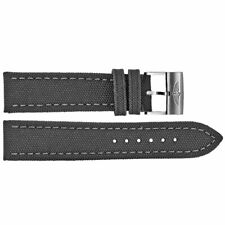 NEW OEM BREITLING ANTHRACITE CANVAS STRAP WITH STEEL BUCKLE 24-20 100W A20BA.1
