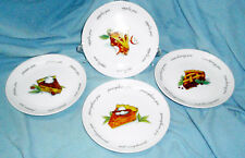 MINT in Box Set 4 Boston Warehouse Harvest Pie Thanksgiving Dessert Plates 2003