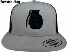 Grenade/Granada Trucker Hat Gray And Black Brand New Hat Ships Now!!!