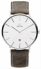 Danish Design Mens Tidlos Aero Large Watch - Taupe/Silver