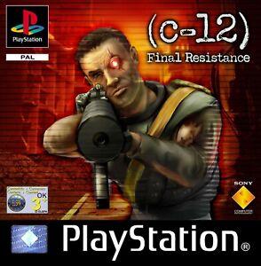 PS1 PSX C-12 Final Resistance PAL Gioco Usato Senza Manuale Playstation 1