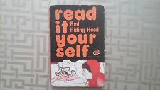VINTAGE LADYBIRD, READ IT YOURSELF, RED RIDING HOOD, 50p