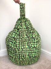 Bean Bag Filled Green Dinosaur Faux Fur 3 CUBIC FT Children's Beanie