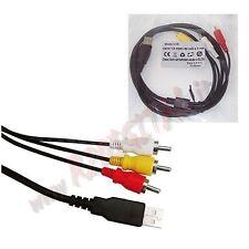 CABLE ADAPTADOR COMPUESTO Convertidor de USB MACHO a 3 x RCA AUDIO VÍDEO PC