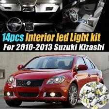 14Pc Super White Car Interior LED Light Bulb Kit for 2010-2013 Suzuki Kizashi