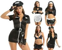 Women Maid Police Nun Fancy Dress Costume Outfit Bodycon Party Fancy Costume Set