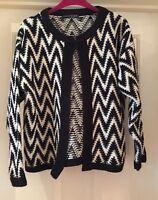 Atmosphere Black & White Cardigan, Size 14 - Lovely!