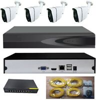 Security Camera System  POE 4 MP (Higher than HD) 3 TB Hard Drive & 4 Cameras