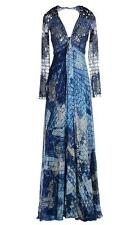 NEW ZUHAIR MURAD EMBELLISHED OCEAN BLUE SILK GOWN 38 - 2