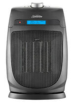 NEW Sunbeam HE2105 Compact Oscillating Ceramic Fan Heater: Grey