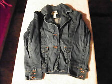OLD NAVY STRETCH BUTTON FRONT JEAN JACKET MEDIUM WASH BLUE GIRLS SIZE MEDIUM