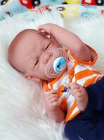 "Baby Real Boy Reborn Doll Preemie Berenguer 15"" Newborn Soft Vinyl Life Like"