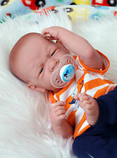 "Baby Real Boy Reborn Doll Preemie Berenguer 15"" Newborn Soft Vinyl Life Like"