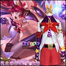 Game League of Legends LOL JINX Cosplay Lolita Adult Uniform Costume Suit Dress