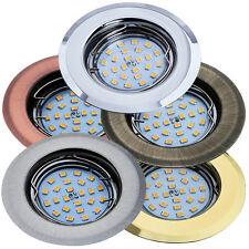 Einbaustrahler GU10 / GU5,3 MR16 Rund Einbaurahmen Einbauleuchte Spot LED OH14