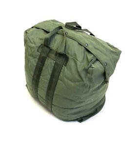 Military A-3 Flyers Kit Bag, Pilots Flight Helmet Duffel, OD Green Nylon USAF