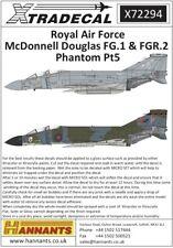 Xtradecal 72294 Décalques 1/72 McDonnell-Douglas fg.1/fgr.2 Phantom PT 5 (9)