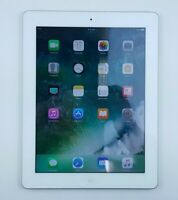 """Apple iPad 4th Gen. (A1458) 16GB - White (WiFi Only) 9.7"""" Cracked Screen Q6520"""