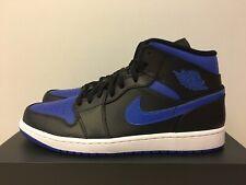 Nike Air Jordan 1 Mid Hyper Royal Blue/Black US Men's Size 11.5 554724-068